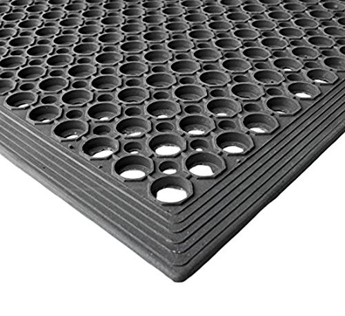 Envelor Home and Garden Durable Anti-Fatigue Restaurant Bar Drainage Rubber Floor Mat (Various Sizes) (36 X 60 Inches)