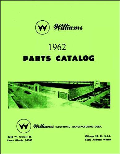 (1962 Williams Pinball Machine Coin-Op Game Parts Manual Catalog)