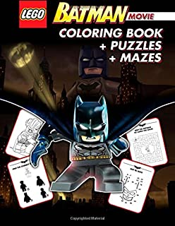 LEGO BATMAN THE MOVIE Coloring Book Great Activity For Kids With Mazes And Puzzles