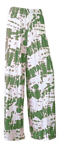 Funky Fashion Shop - Pantalón - para mujer Tie Dye Khaki