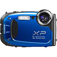 FUJIFILM Blue XP65 16 Megapixels and 5x Optical ZoomDigital Camera, includes 100 Bonus Prints