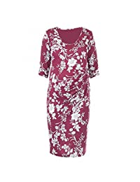 Heavenly Bump Maternity Printed Side Knot Dress
