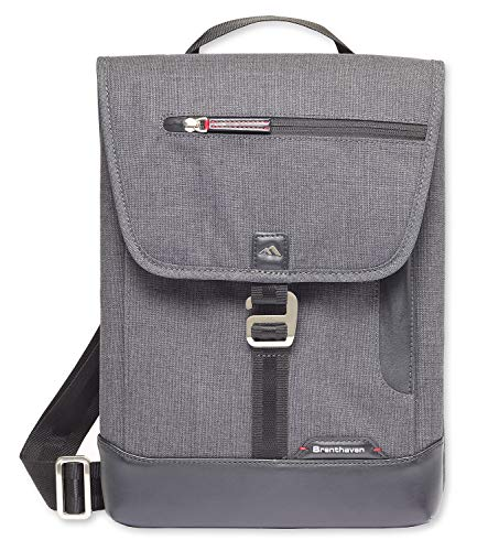 9651c6d7e96e Brenthaven Collins Vertical Messenger Bag With Pockets Designed for  Microsoft Surface Pro for Commercial, Business and Office Use - Graphite,  Durable, ...