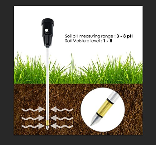 Durable Soil pH & Moisture Meter with Long Probe 11.6 inches (295mm) Gardening Tools for Home Garden Orchard Vineyard Lawn Farm Indoor & Outdoor Use pH range of 3.0 to 8.0 (No Battery needed) by TekcoPlus (Image #3)