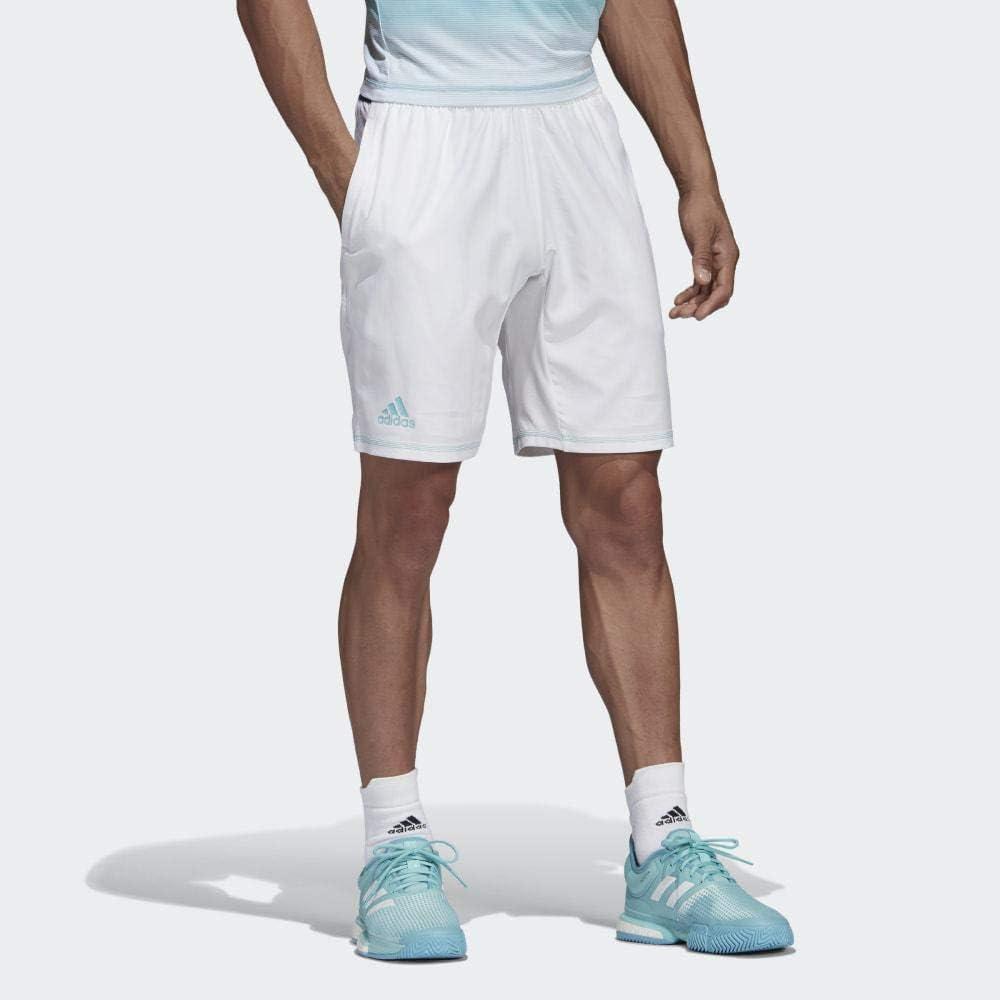 adidas Parley 9 Pantalón Corto de Tenis, Hombre, Blanco, S: Amazon ...