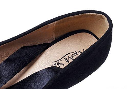 Talon Shoes Chaussures Haut AgeeMi Plateforme Femme Escarpins Noir Lacets Escarpins wtqCfFx