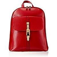 Womens Backpack Pu Leather Lightweight Casual Daypack Fashion Girls Bag,Burgundy