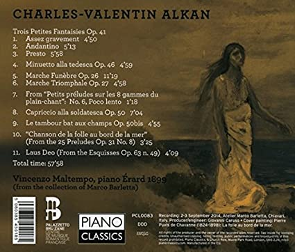Vincenzo Maltempo, Charles Valentin Alkan, __   Alkan: Song Of The Madwoman  On The Seashore   Amazon.com Music