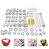 68Pcs/set DIY Cake Cutters Molds Cake Decoration Tool Set Fondant Cake Cookie Sugar Craft Decorating Plunger Flowers Modelling Tools Set