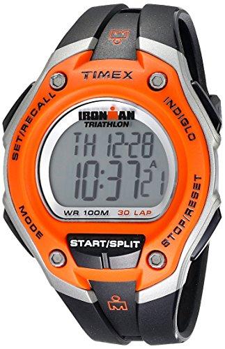Timex Men's T5K529 Ironman Classic 30 Oversized Orange/Black Resin Strap Watch