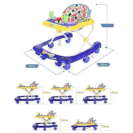 Yangs Andador de bebé Multifuncional, 6-18 Meses Cochecito ...