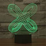 Cross Tentacle Cross Tentacle Creative Abstract 3D Acrylic Visual Touch Table Lamp Colorful Art Decor USB LED Desk Night Lights 3D-TD67