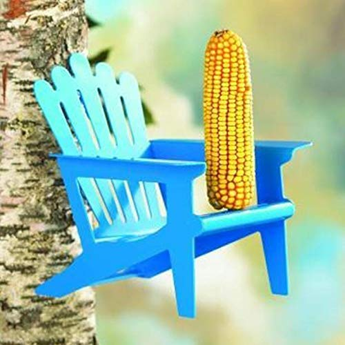 (Inspire and Imagine Adirondack Chair Squirrel Feeder Blue)