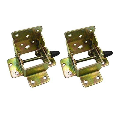 Echaprey Metal Color-zinc Locking Folding Table Bed Chair Leg Brackets Hinge Self Lock Support Hardware Hinges (2Pcs)