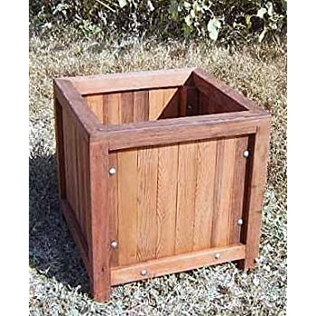 California Redwood Planter Box   Heavy Duty 20 X 20 X 20 With Feet
