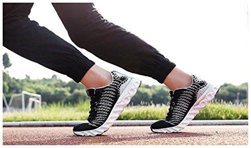 Gris Pour Newzcers Gym Walk Run Femmes Sport Hommes Chaussures Athlétique Noir zzqBw