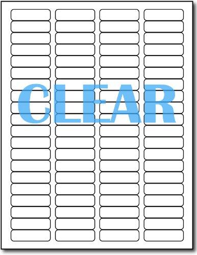 Crystal Clear Return Address Labels for LASER Printers - 1/2