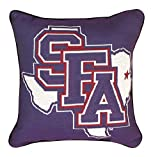 "NCAA Stephen F. Austin State University Logo Tapestry Throw Pillow 17"" x 17"""
