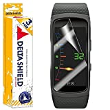 Samsung Gear Fit2 Screen Protector (Gear Fit 2)[3-Pack], DeltaShield BodyArmor Full Coverage Screen Protector for Samsung Gear Fit2 Military-Grade Clear HD Anti-Bubble Film
