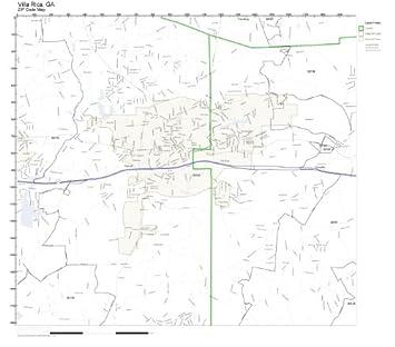 Villa Rica Ga Zip Code Map.Amazon Com Zip Code Wall Map Of Villa Rica Ga Zip Code Map Not