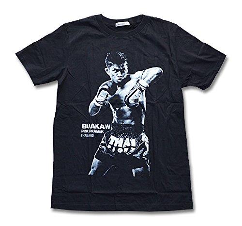 吸う拮抗最大化するブアカーオ Tシャツ 肘打ち 黒 S/M/L/XLサイズ ムエタイ キックボクシング ブラック タイ K-1