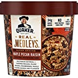 Quaker Real Medleys Super Grains Oatmeal+, Maple Pecan Raisin, Instant Oatmeal+ Breakfast Cereal,2.46 Oz,Pack of 12 Review