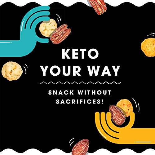 Hilo Life Keto Friendly Low Carb Snack Mix, Really Ranchy & Super Cheesy 2 Flavor Variety Pack, 1.48oz Pouches (6 Pack) 6