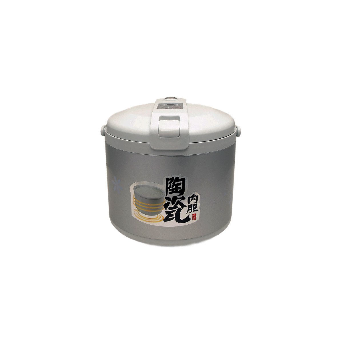 Hannex Rice Cooker, Silver And White Finish, 6 cups