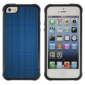 LASTONE PHONE CASE / Suave Silicona Caso Carcasa de Caucho Funda para Apple Iphone 5 / 5S / Blue fabric texture