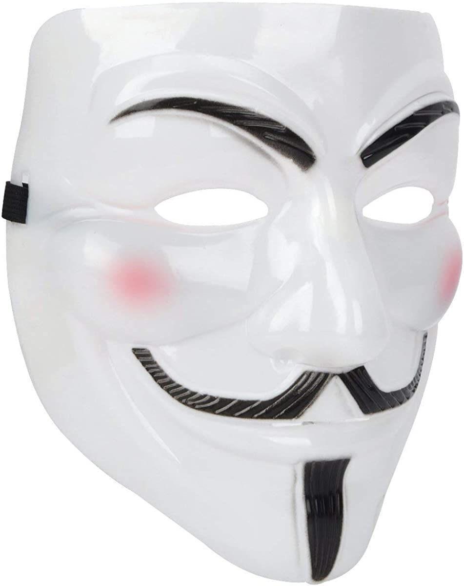 Miuion Guy Fawkes Mask -V for Vendetta, Anonymous Hacker Cosplay Party Mask