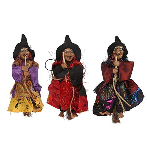 (Fashionclubs Halloween Hanging Witch Decoration Toys,3pcs 8