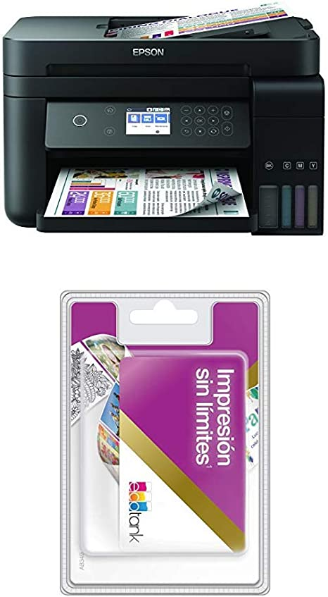 EcoTank ET-3750 + Tarjeta tinta ilimitada: Amazon.es: Informática
