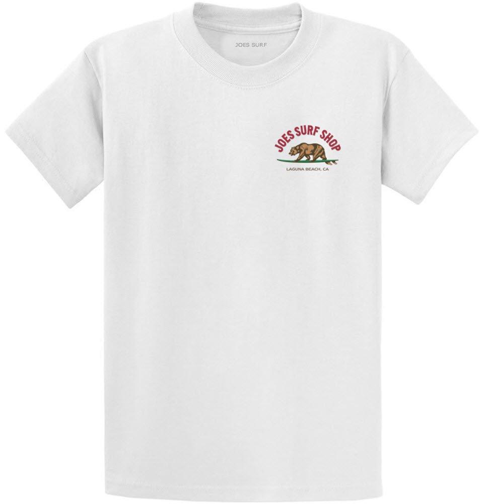 Joe's Surf Bear Logo Heavyweight Cotton T-Shirt-White/c-3XL