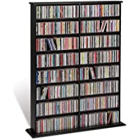 Double Media Tower, holds 640 CDs Black