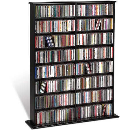 Double Media Tower, holds 640 CDs Black - Ray Tower Blu Storage