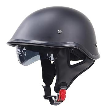 MagiDeal Casco de Media Cabeza Estilo Clásico Motocicleta Accesorios de Seguridad Complimentos - Negro L