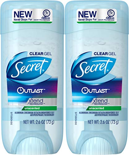 Secret Outlast Xtend Antiperspirant Deodorant, Clear Gel, Un