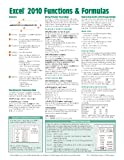 img - for Microsoft Excel 2010 Functions & Formulas Quick Reference Guide (4-page Cheat Sheet focusing on examples and context for intermediate-to-advanced functions and formulas- Laminated Guide) book / textbook / text book