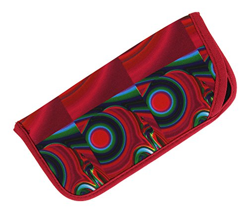 Soft Fabric Slip In Eyeglass Case For Women & Men, Colorful Psychedelic - Glasses Case Funky