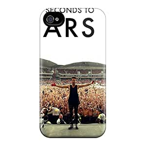 DannyLCHEUNG Iphone 4/4s High Quality Hard Cell-phone Cases Unique Design Lifelike 30 Seconds To Mars Band 3STM Skin [Vmi12830aYDU]