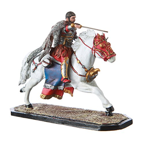 Tin Toy Soldier Roman Mounted Gladiator Maximus on horseback hand painted metal sculpture miniature figurine 54mm (Horseback Statue Figure)