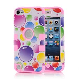 iPod Touch 5th Case,Carryberry iPod Touch 5th Hybrid Impact Shockproof Cover Hard Shell and Soft Silicone Skin Layer