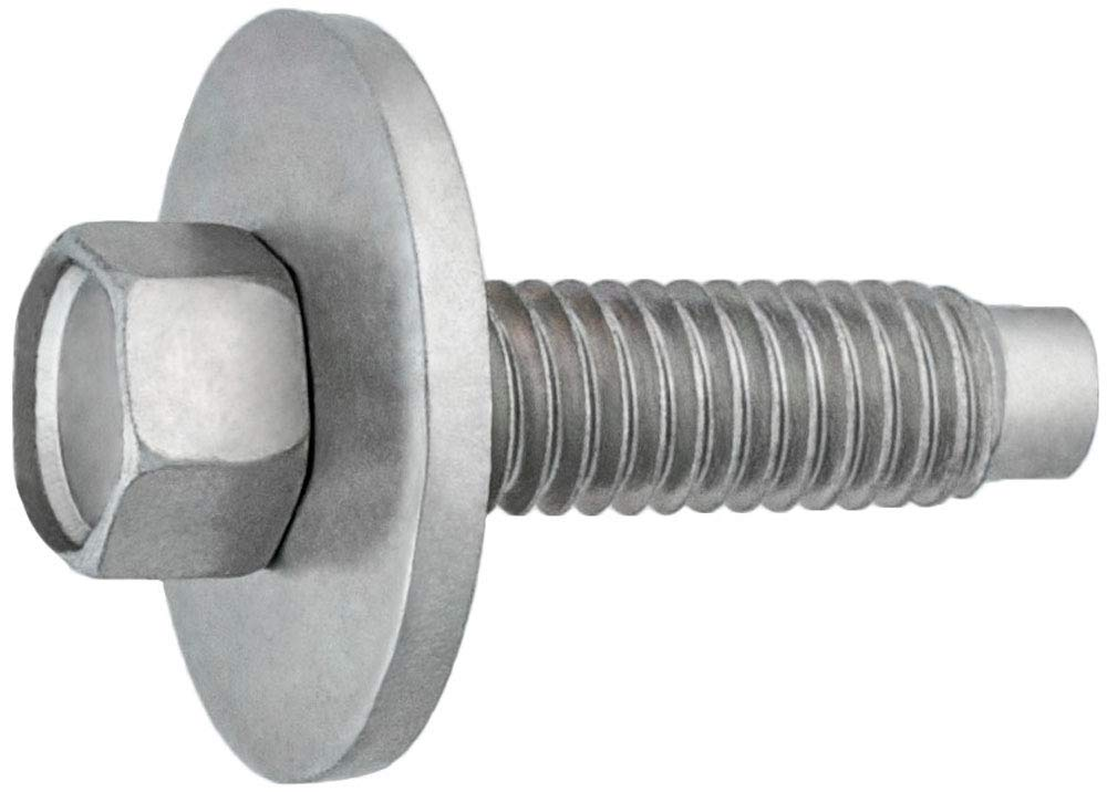 Clipsandfasteners Inc Hex Head SEMS Body Bolt Zinc M6-1.0 X 22.5mm