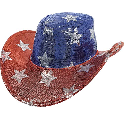 (Patriotic Party Sequin Cowboy Hat, 5