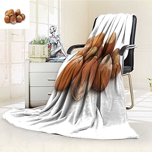 AmaPark Luminous Microfiber Throw Blanket Hazelnuts Pile on The White Background Glow in The Dark Constellation Blanket, Soft and Durable Polyester(60