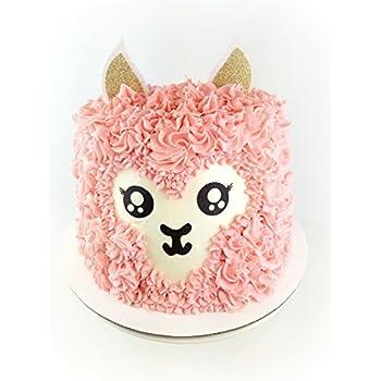 Amazon Com Handmade Llama Birthday Cake Topper Decoration