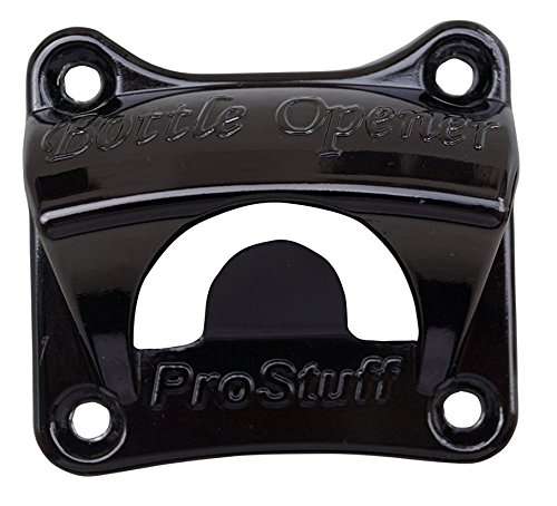 Bottle Opener Wall Mount, Black with Free Four (4) Mounting Screws Much Stronger Mount Than Typical 2 Screw Design (Wall Mounted Bottle Opener Stone compare prices)