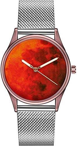 LZRDZSW 男性と女性のレトロなカジュアル腕時計、パーソナリティスターデザイン。大きな丸いダイヤル。ルミナスディスプレイと輸入クォーツムーブメント、30メートル防水深さ、。レザーとスチールチェーン。 ギフトの寄付のための適切な (Color : Style-4)