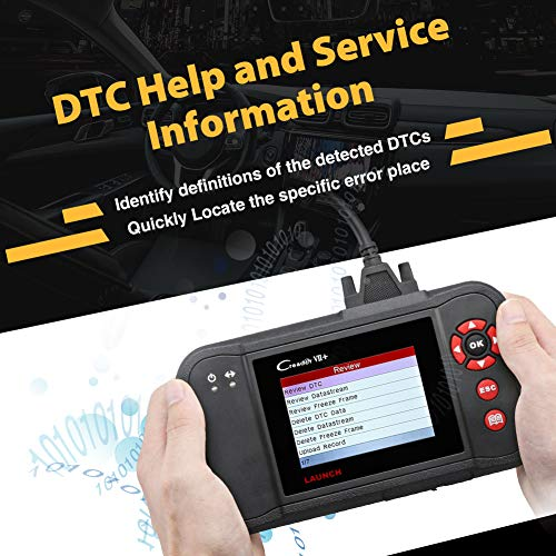 LAUNCH Black Creader VII+ OBD2 Scanner ABS SRS Transmission and Engine Code Reader Diagnostic Scan TPMS Activation Tool Gift by LAUNCH (Image #5)