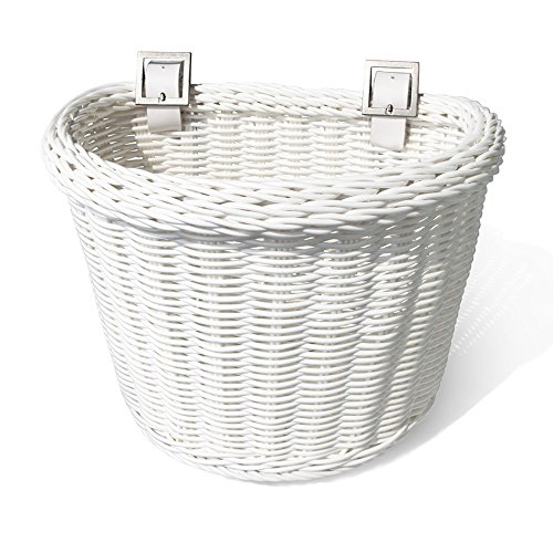 Colorbasket 02164 Junior Front Handlebar Bike Basket, White